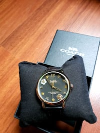 COACH Womens Delancey in Black Leather Strap San Francisco County