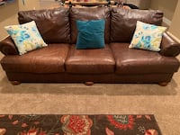 brown leather 3-seat sofa Lewisville, 75067