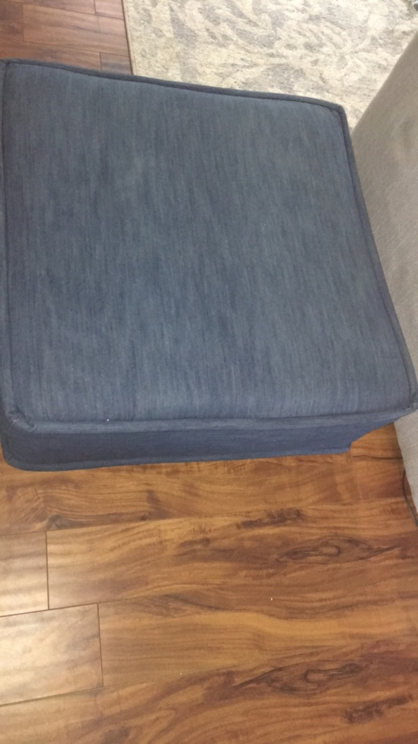 Used Blue Fabric Ottoman 31 X 31 X11 Tall For Sale In Palm Harbor
