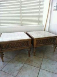 (2) Large Vintage End Tables Newport Beach, 92661