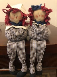 Vintage Raggedy Ann and Andy Ledge Dolls Randallstown, 21133