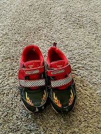 Toddler Lightning McQueen shoes, size 11
