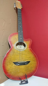 Nikko Acoustic-Electric Guitar and Capo Howell, 48843
