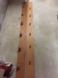 Homemade oak coat racks Toronto, M2J 3B8