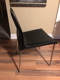 4  stainless steel / leather chairs Whitchurch-Stouffville, L4A 0B5