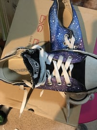 Purple-and-white nebula print converse all star low-top sneakers Weatherford, 73096