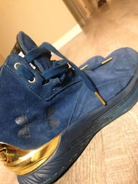 pair of blue suede low-top sneakers Winnipeg, R3G 3J6
