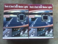 2 Sets of 4 Stainless Steel Solar LED Dock and Deck Lights Ajax, L1T 1V1