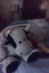 white and black cow plush toy Frederick, 21703