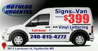 Vinyl Lettering Car and Van Cheverly, 20784