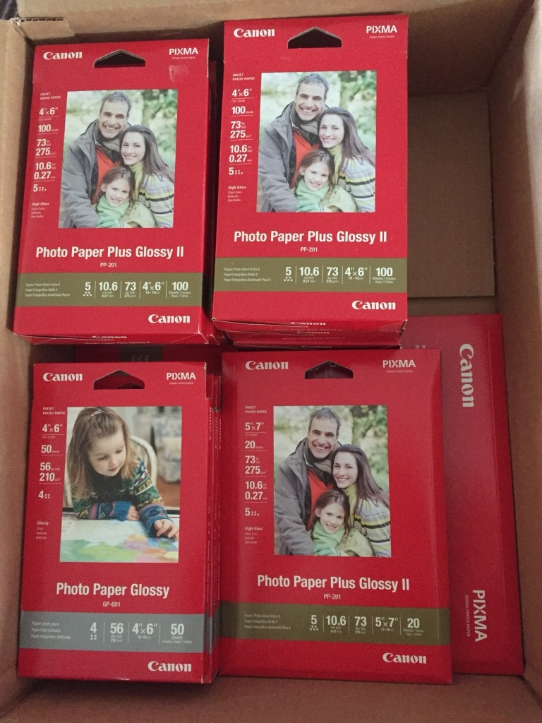 Photo Canon photo paper set for new price of $35.00
