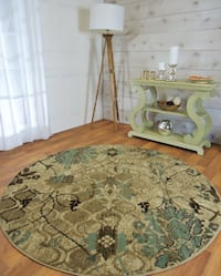 5 ft round area rug NEW Blue Rug