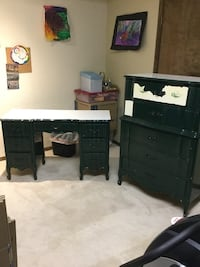 Solid wood desk and dresser drawers