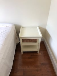 white wooden 2-drawer nightstand Washington, 20018