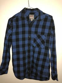 Extra small black & blue plaid shirt Richmond, V7E