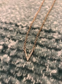 Gold V Chevron Long Necklace Centreville, 20120