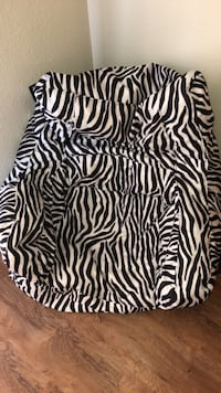black and white zebra print sleeveless dress Cocoa, 32926