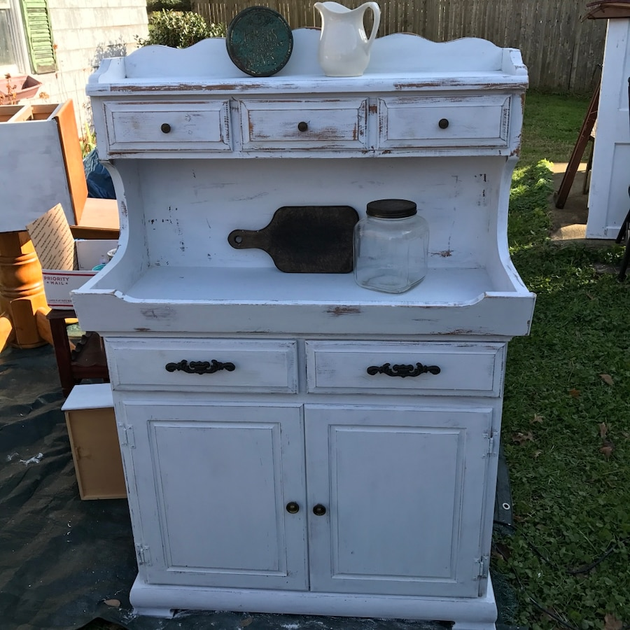 Used White Wooden Kitchen Hutch For Sale In Hebron   Letgo