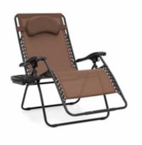 1 Brown Zero Gravity Lounge Chair. In original box. Never unpacked  Selling for 1/2 Price Paid Bentonville, 72712