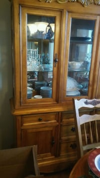 brown wooden framed glass display cabinet San Antonio, 78217