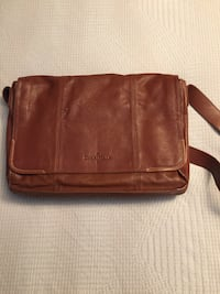 NEW Cole-Haan Mens Woodbury Tan Leather Messenger Bag Toronto