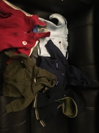 five assorted jackets