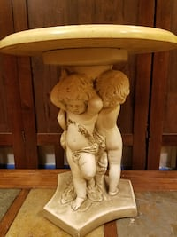 Cherub Statue with Marble Table Top Council Bluffs