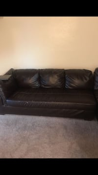 Black leather 2-seat sofa District Heights, 20747
