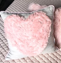 Girl's Pink and Gray Tulle Heart Decorative Pillow Gaithersburg, 20879