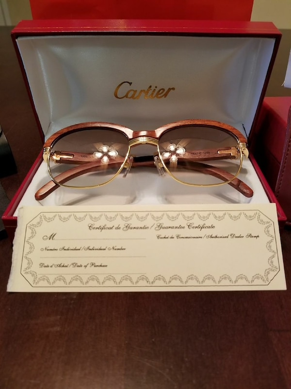 7e0cc186095 Used 100%Authentic Cartier Gold All Wood 90 s Frames for sale in ...