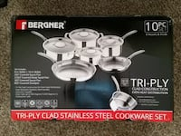 New Stainless steel cookware set Sioux Falls, 57104