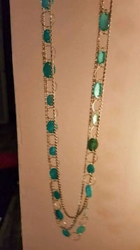 Turquoise oval extra long necklace  Guelph, N1H 1E6