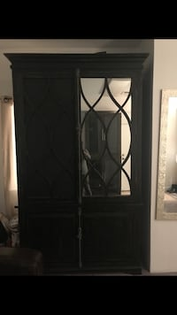 Black wooden 3-panel room divider Falls Church, 22041