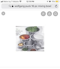 16 piece mixing bowl set with covers