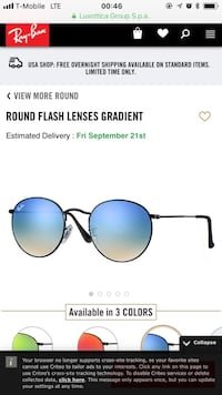 Ray-Ban Round Flash Lenses Gradient Boston, 02120