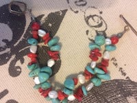 teal, red, and white bead braelet Chino Valley, 86323