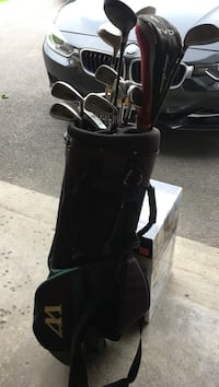 Black and gray golf bag Clay, 13041