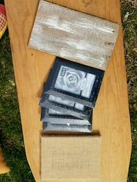 Lot of small frames and craft signs