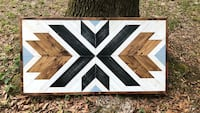 Handcrafted Geometric Wood Wall Art New Orleans