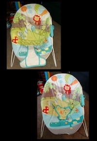 baby's green and blue bouncer Laurel, 19956