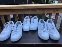 3 pairs of girls indoor athletic shoes - sizes 5,4, 3.5 - Toronto, M4J 1W7