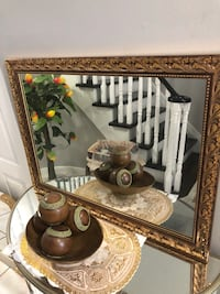New gold frame mirror see pictures size LxW 31x24 asking $99 contact Richard  [TL_HIDDEN]  Toronto, M9V 4T4