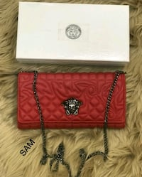 women's red and black leather sling bag Faridabad, 121001