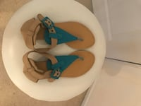 Size 8 Blue Thong Sandals