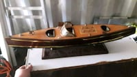 Antique Wooden Boat Models Bear, 19701