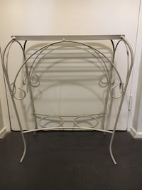 white metal framed glass top table London, N6H 0A1