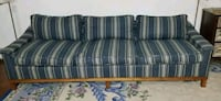 gray and blue striped fabric sofa Trumbull, 06611
