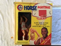 1980s Lil Horse Basketball Player and Goal set with Michael Jordan poster Ooltewah, 37363
