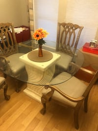 Rustic/Antique Column Dining Table