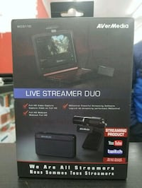Avermedia BO311D, Live Streamer Duo, Brand New, VIDEO CAPYTURE Toronto, M9V 2X6